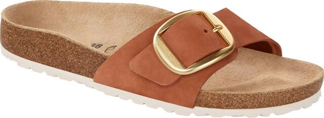 Birkenstock Madrid Big Buckle Sandals Nubuk Leather Narrow Women, brandy